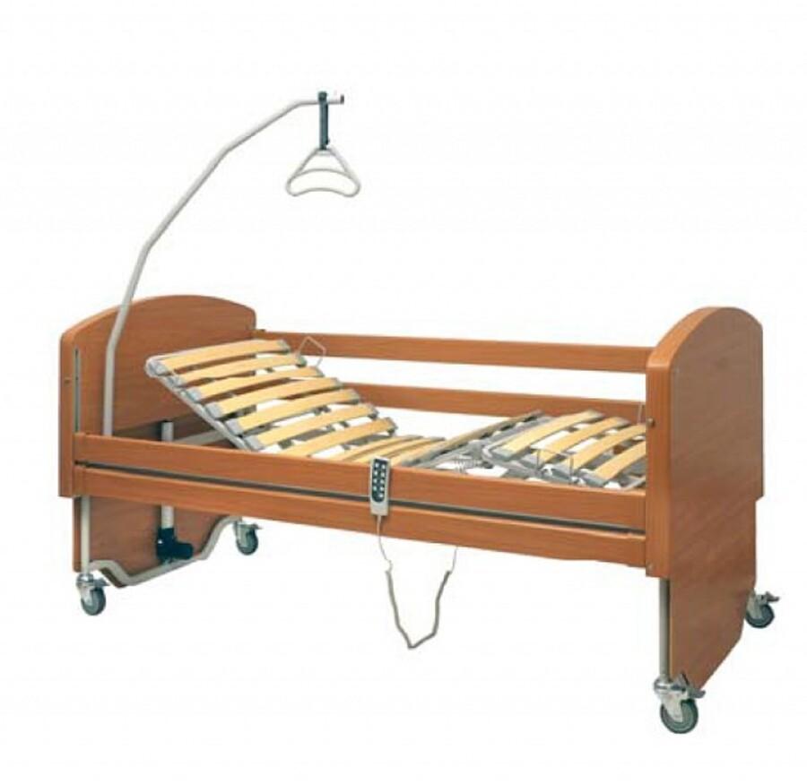 Letto da degenza elettrico con doghe in legno rebecca - Letto doghe legno ...