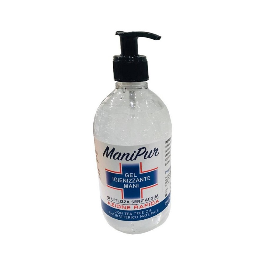 Manipur Gel Igienizzante Mani a base alcoolica + Tea tree oil - 500ml
